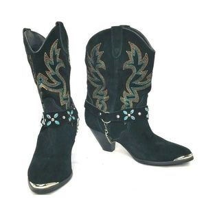 Dingo Suede Leather Western Cowgirl Boots